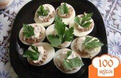 Фото рецепта: «Яйца с печенью трески»