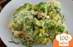 Фото рецепта: «Омлет с брокколи в духовке»