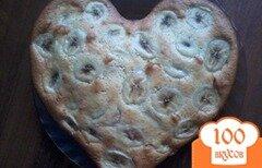 Фото рецепта: «Банановый пирог в виде сердца»