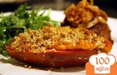 Фото рецепта: «Сладкий картофель с козьим сыром и пеканом»