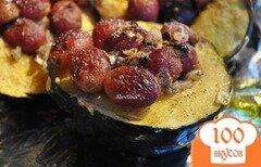 Фото рецепта: «Запеченный Акорн сквош с виноградом»