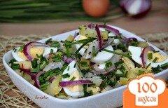 Фото рецепта: «Салат из картофеля, сельди и яблока»