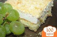 Фото рецепта: «Нежнейшее пирожное с творожным кремом»