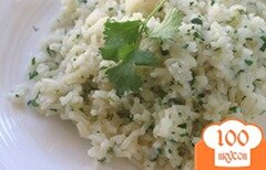 Фото рецепта: «Рис с кинзой»