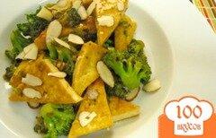 Фото рецепта: «Жареные брокколи с тофу»