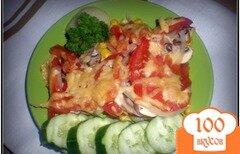 Фото рецепта: «Запеченные овощи с грибами под сыром»