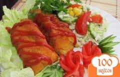 Фото рецепта: «Сосиски в картофельном пюре (или спасение вчерашнего ужина)»