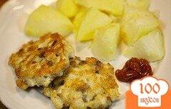 Фото рецепта: «Куриные котлеты с грибами»