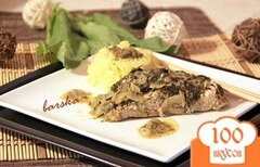 Фото рецепта: «Рыбка в щавелевом соусе»