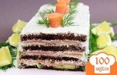 Фото рецепта: «Торт с копченым лососем»