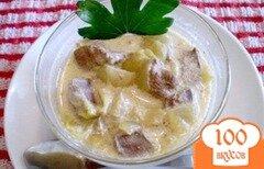 Фото рецепта: «Свиная печень в сметане»