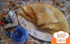 Фото рецепта: «Блины ванильные с абрикосовым вареньем»
