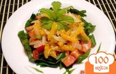 Фото рецепта: «Овощной салат с горькой тыквой»