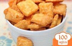 Фото рецепта: «Домашние сырные крекеры»