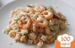 Фото рецепта: «Рис с креветками в мультиварке»