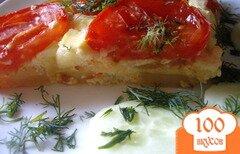 Фото рецепта: «Картофельная запеканка с сыром и помидорами»