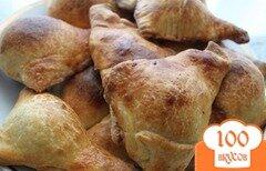 Фото рецепта: «Пирожки из слоеного теста с печенью»