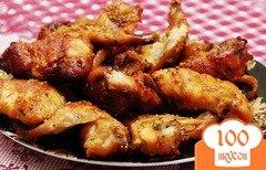 Фото рецепта: «Куриные крылышки (в медово-горчичной заливке)»