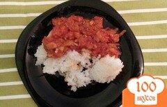Фото рецепта: «Отварной рис с овощным соусом»