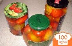 """Фото рецепта: «Домашние маринованные помидоры """" Страна Советов """"»"""