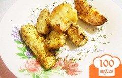 Фото рецепта: «Запеченный картофель с кабачками»
