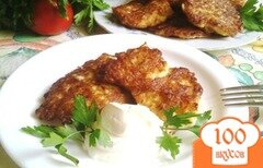 Фото рецепта: «Оладьи из цветной капусты с сыром»
