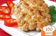 Фото рецепта: «Рубленые куриные котлеты с сыром»