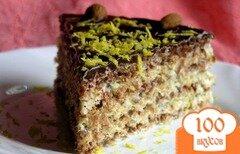 Фото рецепта: «Шоколадно-лимонный вафельный торт с миндалем»
