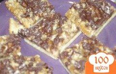 Фото рецепта: «Батончики с шоколадом и орехами»