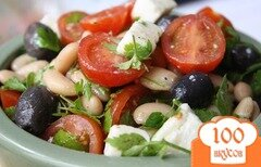 Фото рецепта: «Салат греческий с фасолью»