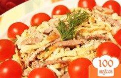 Фото рецепта: «Салат из копченого окорочка и омлета»