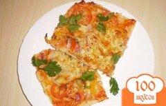 """Фото рецепта: «Пицца """"По-домашнему""""»"""
