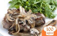 Фото рецепта: «Свиные отбивные под белым соусом»