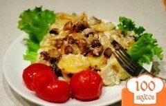 Фото рецепта: «Шампиньоны с картошкой в сметане»
