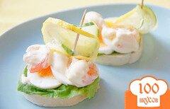 Фото рецепта: «Бутерброды с креветками и яйцом»