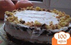 Фото рецепта: «Торт птичье молоко со сметанным кремом»