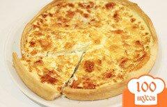 Фото рецепта: «Киш лорен (открытый пирог со сливками, яйцами и беконом)»