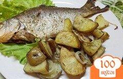 Фото рецепта: «Гарнир из печеного картофеля с заправкой»
