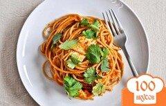 Фото рецепта: «Спагетти с курицей в соусе энчилада»