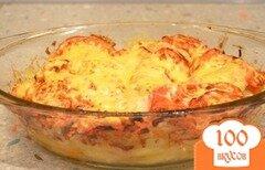 Фото рецепта: «Запеченная картошка с куринными крылышками»
