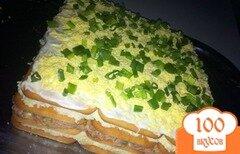 Фото рецепта: «Торт-салат с крекерами и тунцом»