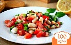 Фото рецепта: «Салат из помидоров и фасоли»
