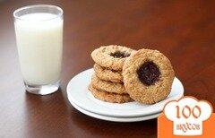 Фото рецепта: «Овсяное печенье с джемом»