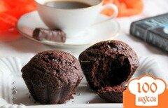 Фото рецепта: «Заварные шоколадные кексы»