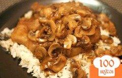 Фото рецепта: «Свинина с грибами в мультиварке»