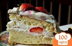 Фото рецепта: «Торт с клубникой»