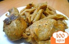 Фото рецепта: «Курица в томатно-сметанном маринаде»