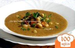 Фото рецепта: «Пряный суп с нутом, овощами и тмином»