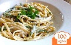 Фото рецепта: «Паста феттучини под сырным соусом»