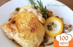 Фото рецепта: «Курица с лимоном и грибами»